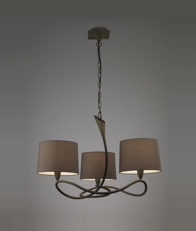 L mpara gris ceniza lua 3 luces la casa de la l mpara - Casa de las lamparas ...