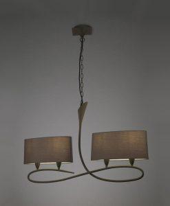 Lámpara lineal gris ceniza LUA 4 luces