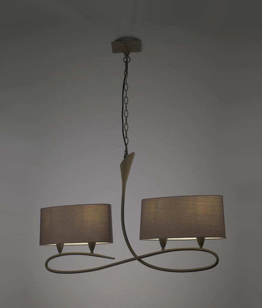 L mpara lineal gris ceniza lua 4 luces la casa de la l mpara - Casa de las lamparas ...