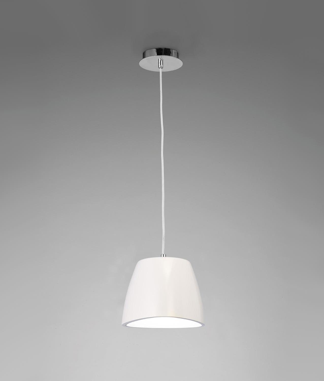 Lámpara colgante blanca pequeña TRIANGLE
