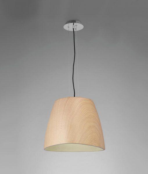 Lámpara colgante madera grande TRIANGLE