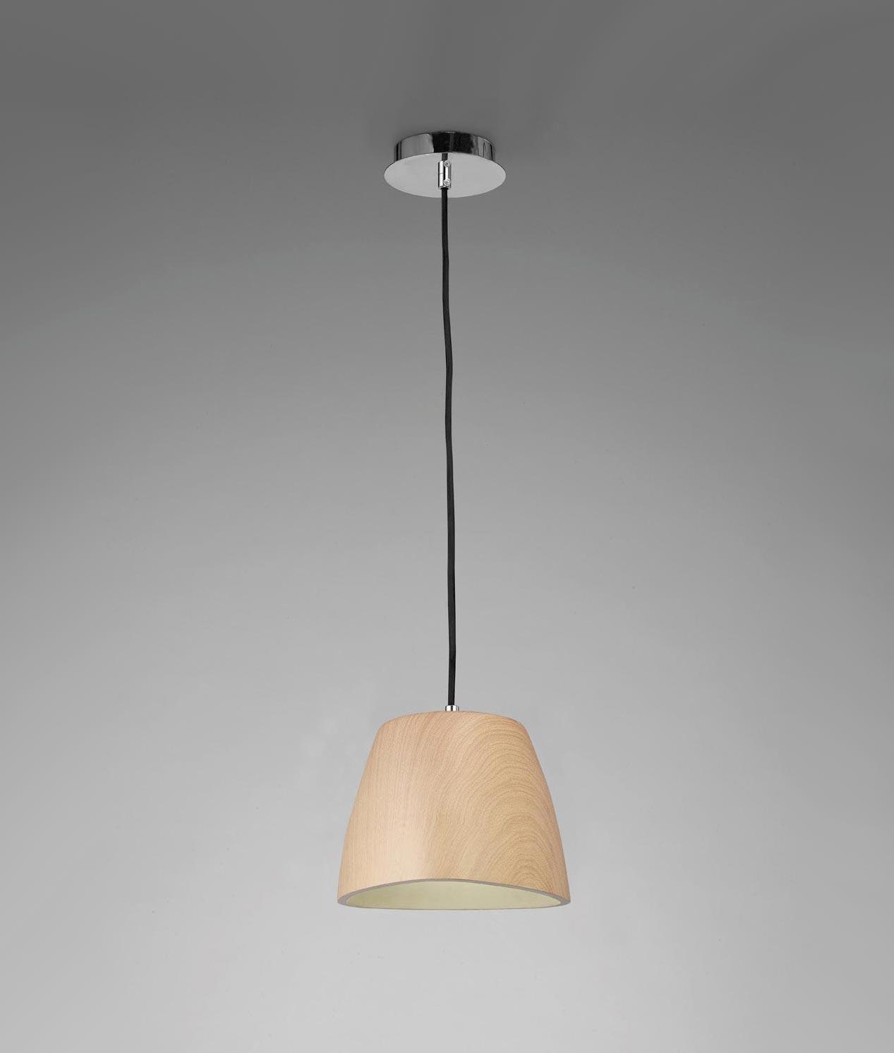 L mpara colgante madera peque a triangle - Casa de las lamparas ...