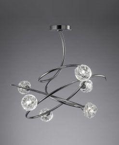 Lámpara cromo 6 luces MAREMAGNUM