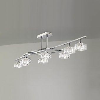 Plafón grande cromo ZEN 8 luces