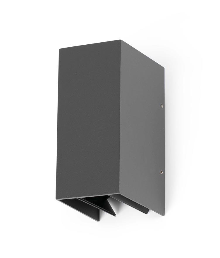 Aplique de pared exterior blind gris la casa de la l mpara Aplique de pared exterior