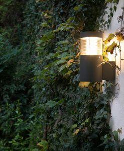 Aplique de pared LED GIZA gris ambiente
