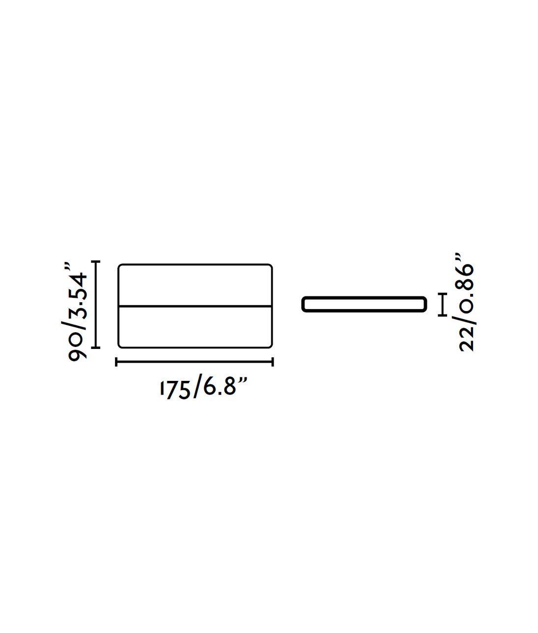 Aplique de pared LED gris ADAY medidas