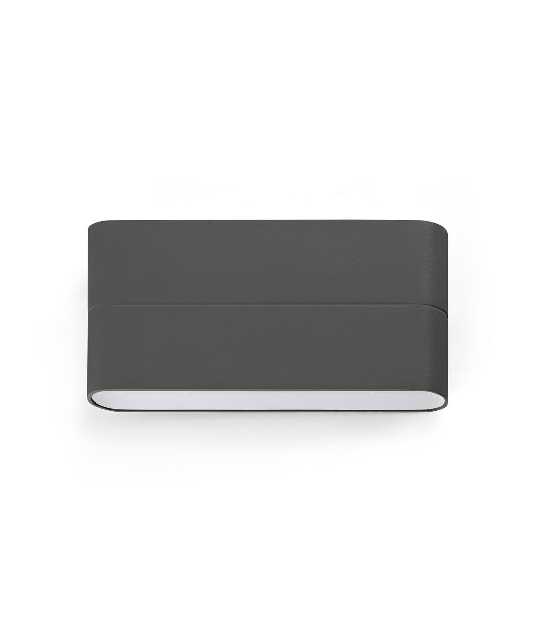 Aplique de pared LED gris ADAY