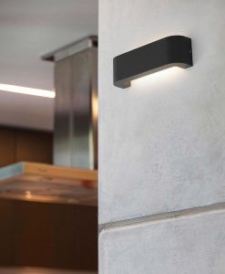 Aplique LED BRACKET gris oscuro ambiente