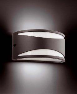 Lámpara aplique BONN gris oscuro