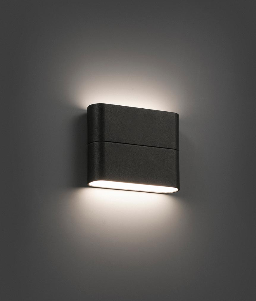 L mpara aplique led gris aday la casa de la l mpara for Apliques de pared exterior led