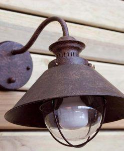 Lámpara aplique marrón óxido NÁUTICA ambiente