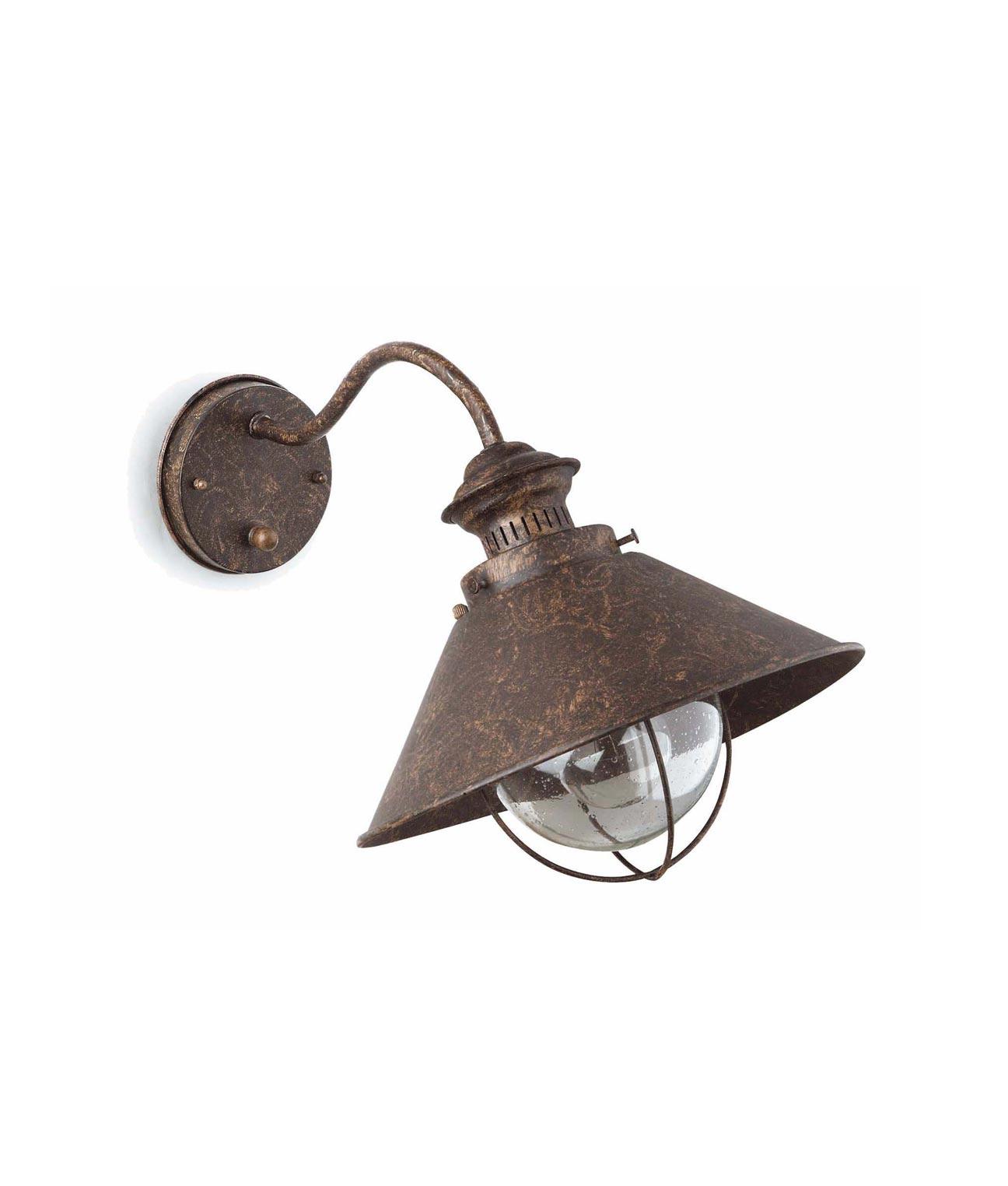 Lámpara aplique marrón óxido NÁUTICA