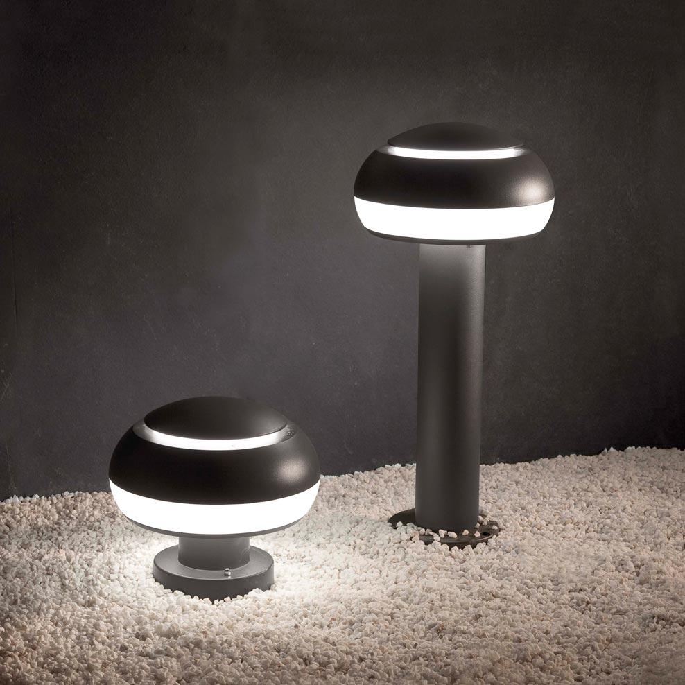 Lámpara baliza BOLETUS gris oscuro ambiente