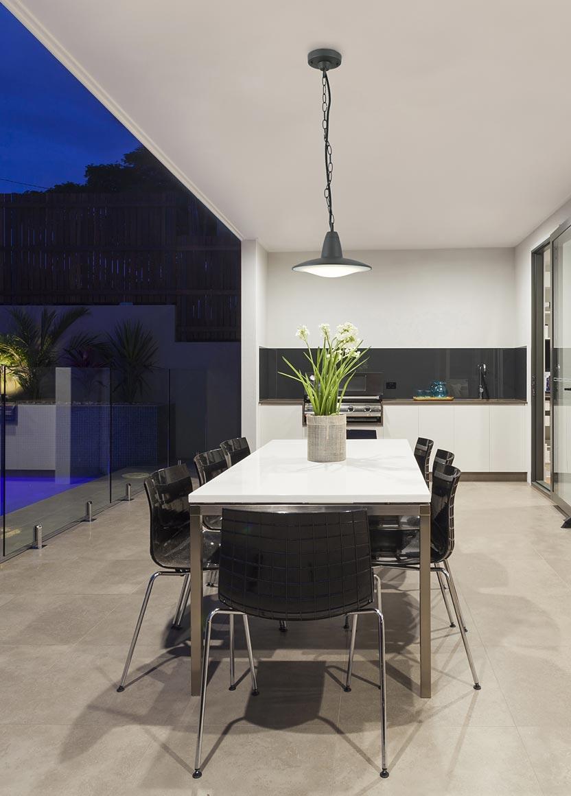 Lámpara colgante LED ELLEN gris ambiente