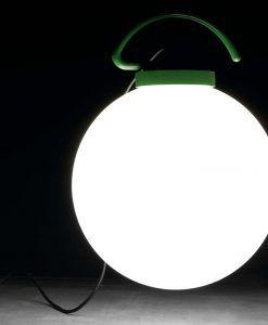 Lámpara exterior portátil verde NUK ambiente