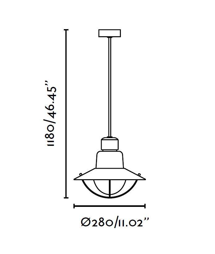 Lámpara exterior roja NEWPORT medidas