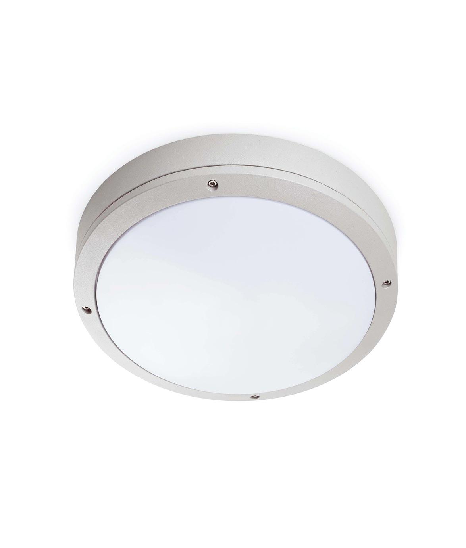 Lámpara plafón exterior YEN gris