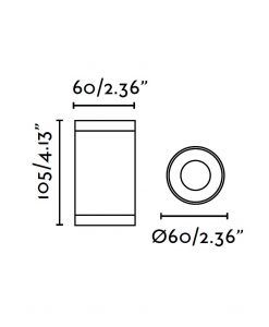 Lampara plafón gris OLOT medidas