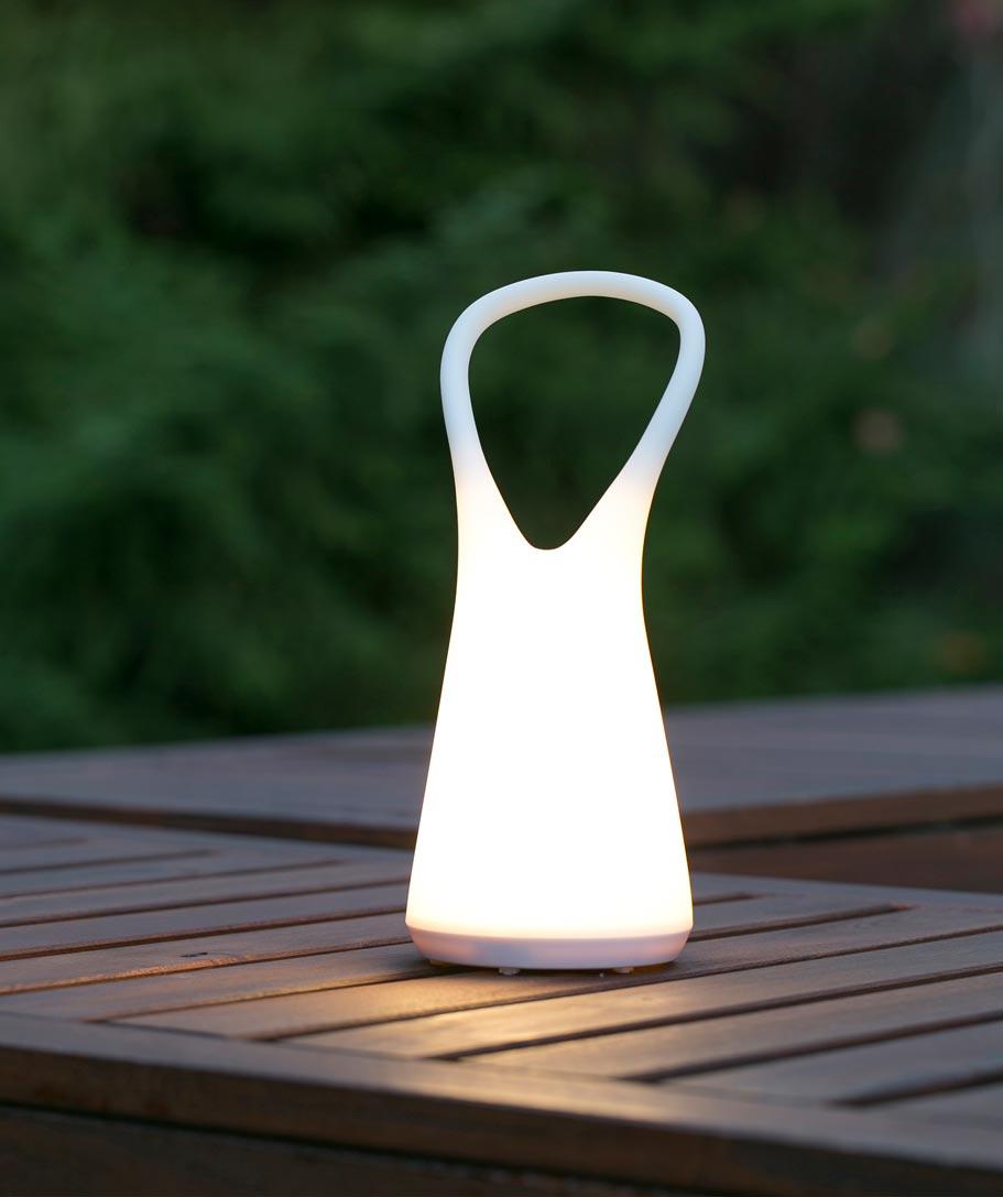 Lámpara portátil BOO blanca ambiente
