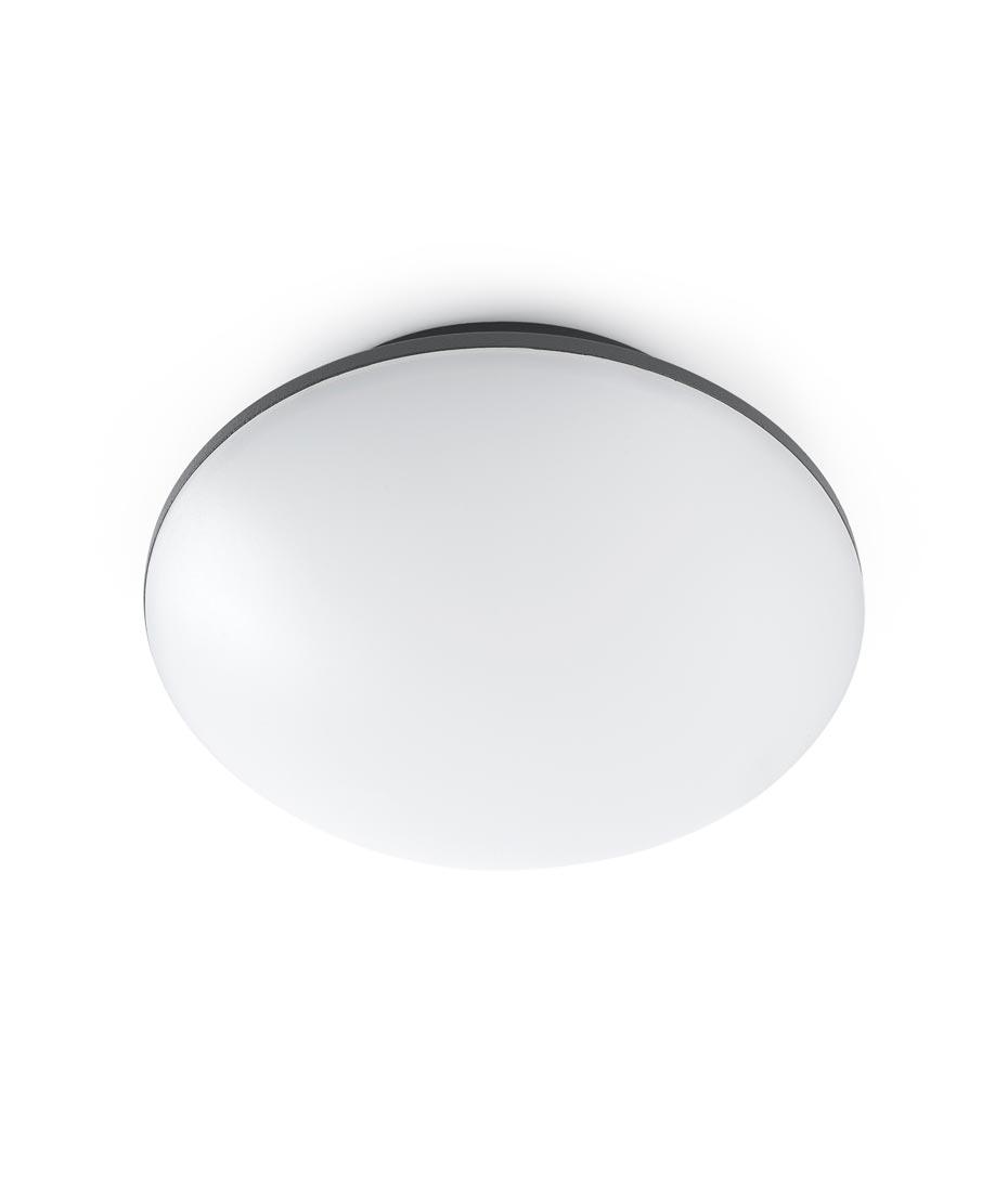 Plaf n aplique led sun gris la casa de la l mpara for Plafones exterior iluminacion