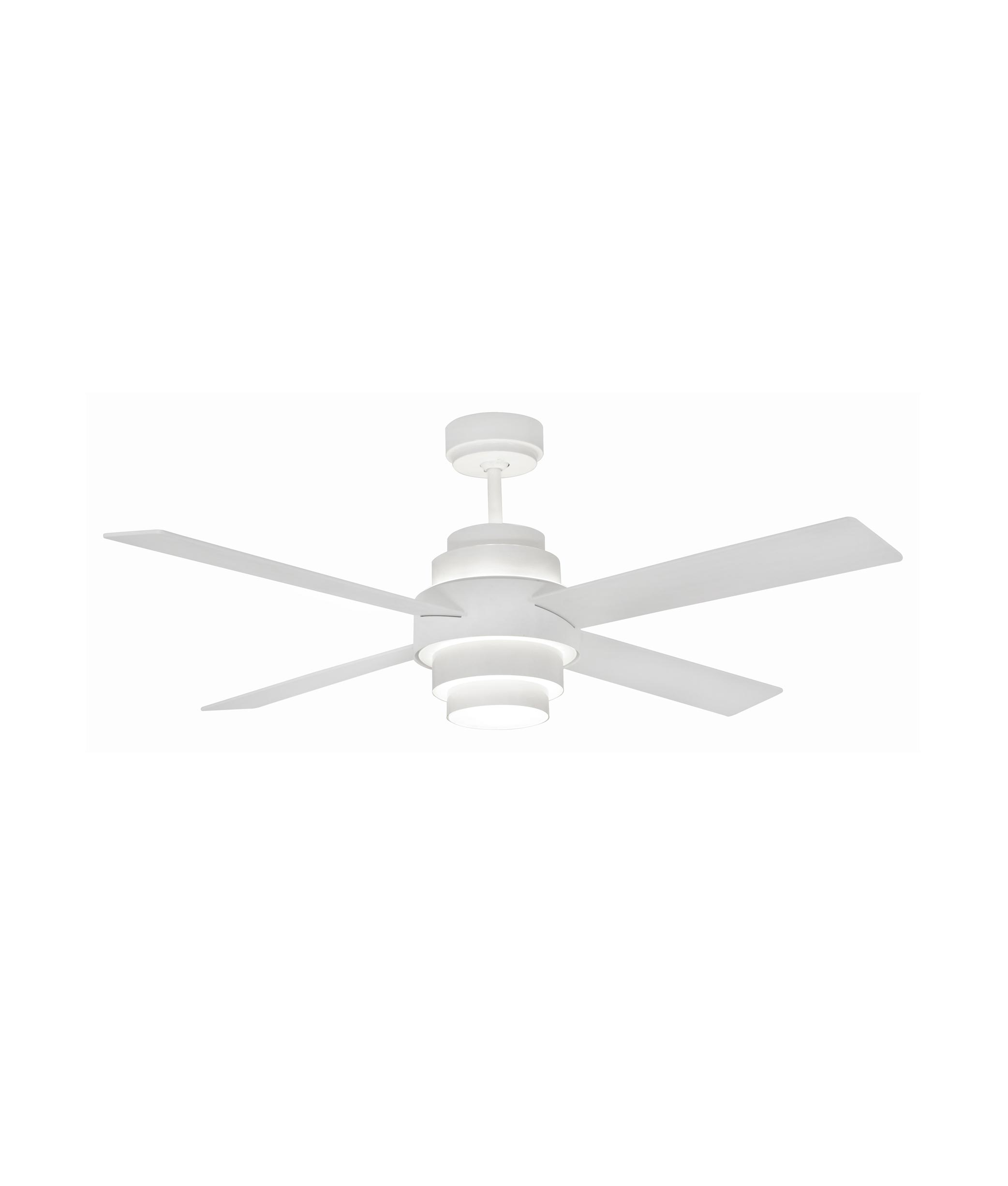 Ventilador blanco DISC FAN LED iluminado