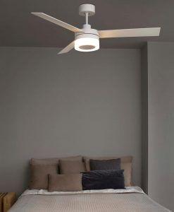 Ventilador de techo blanco ICE LED ambiente