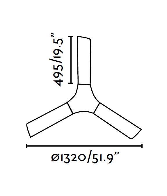 Ventilador de techo blanco LAKKI medidas 2