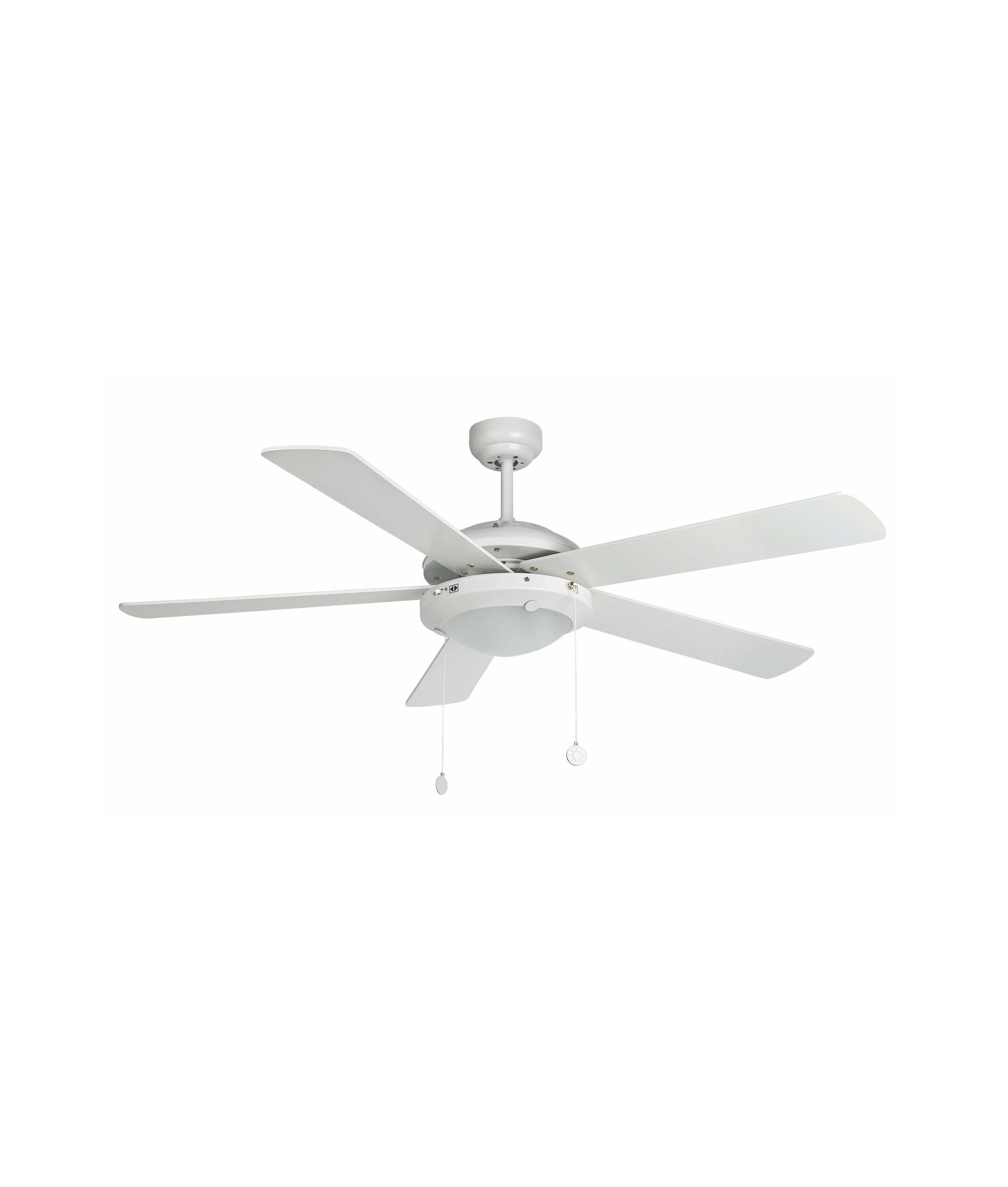 Ventilador de techo blanco manila la casa de la l mpara - Lampara ventilador de techo ...