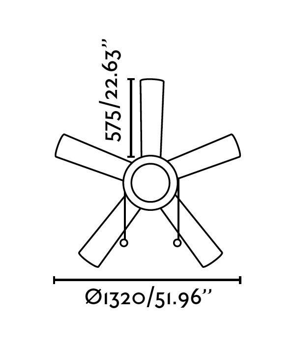 Ventilador de techo blanco MANILA medidas 2