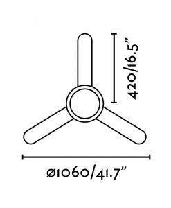 Ventilador de techo con luz blanco FEROE medidas 2