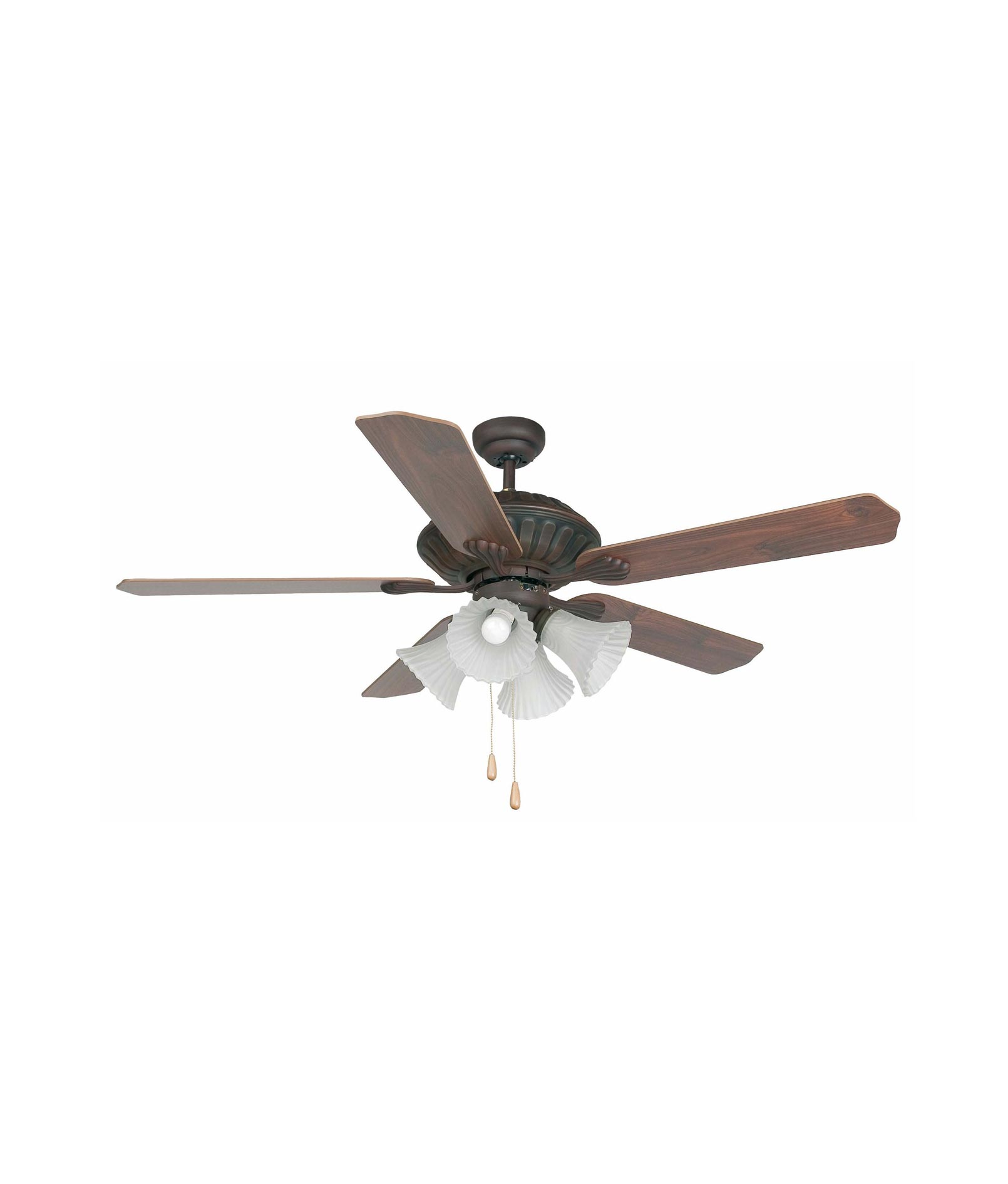 Ventilador de techo marr n corso la casa de la l mpara - Lamparas de techo con ventilador ...