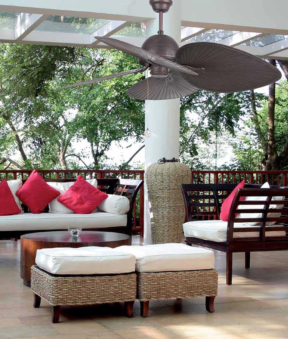 Ventilador de techo marrón CUBA ambiente