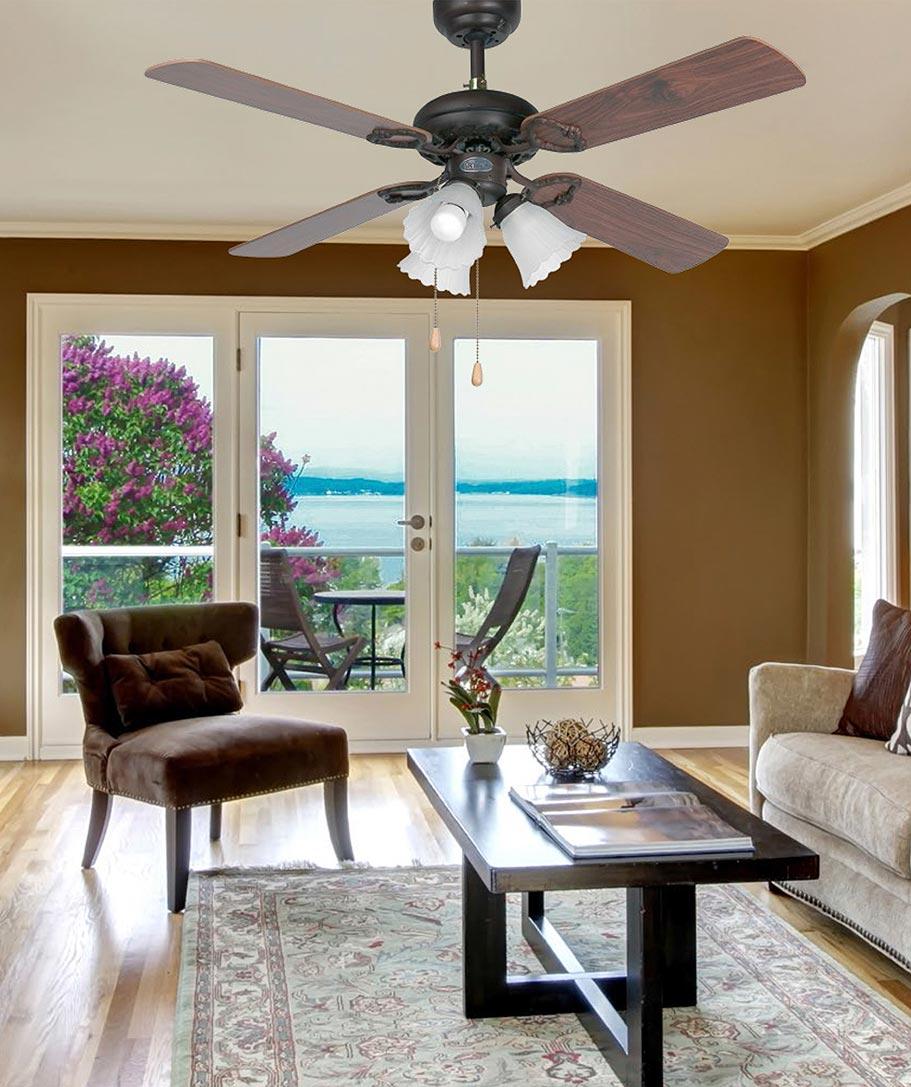 Ventilador de techo marrón LISBOA ambiente
