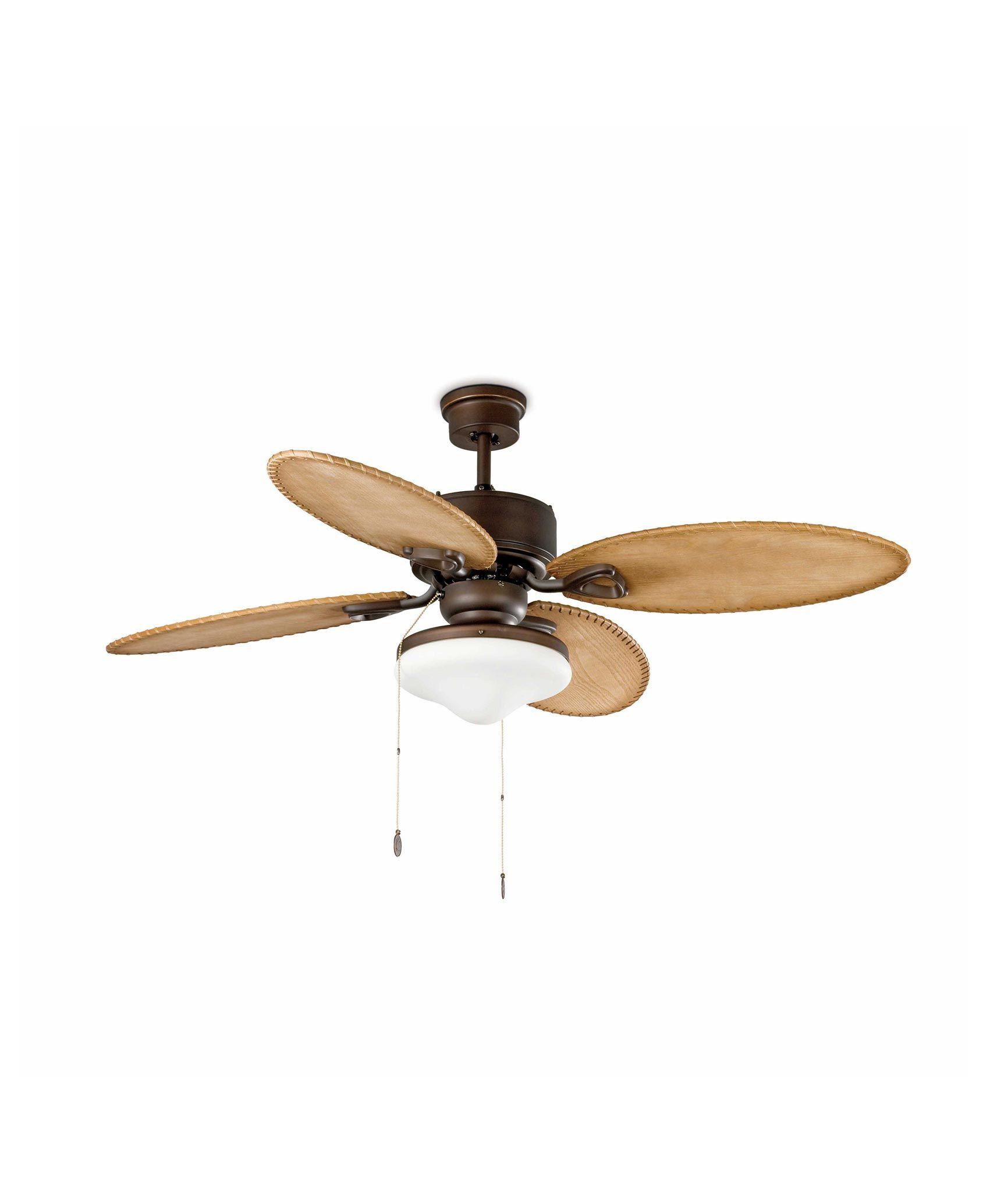 Ventilador de techo marr n lombok la casa de la l mpara - Lamparas de techo ventilador ...