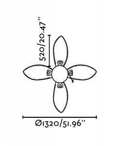 Ventilador de techo marrón LOMBOK medidas 2