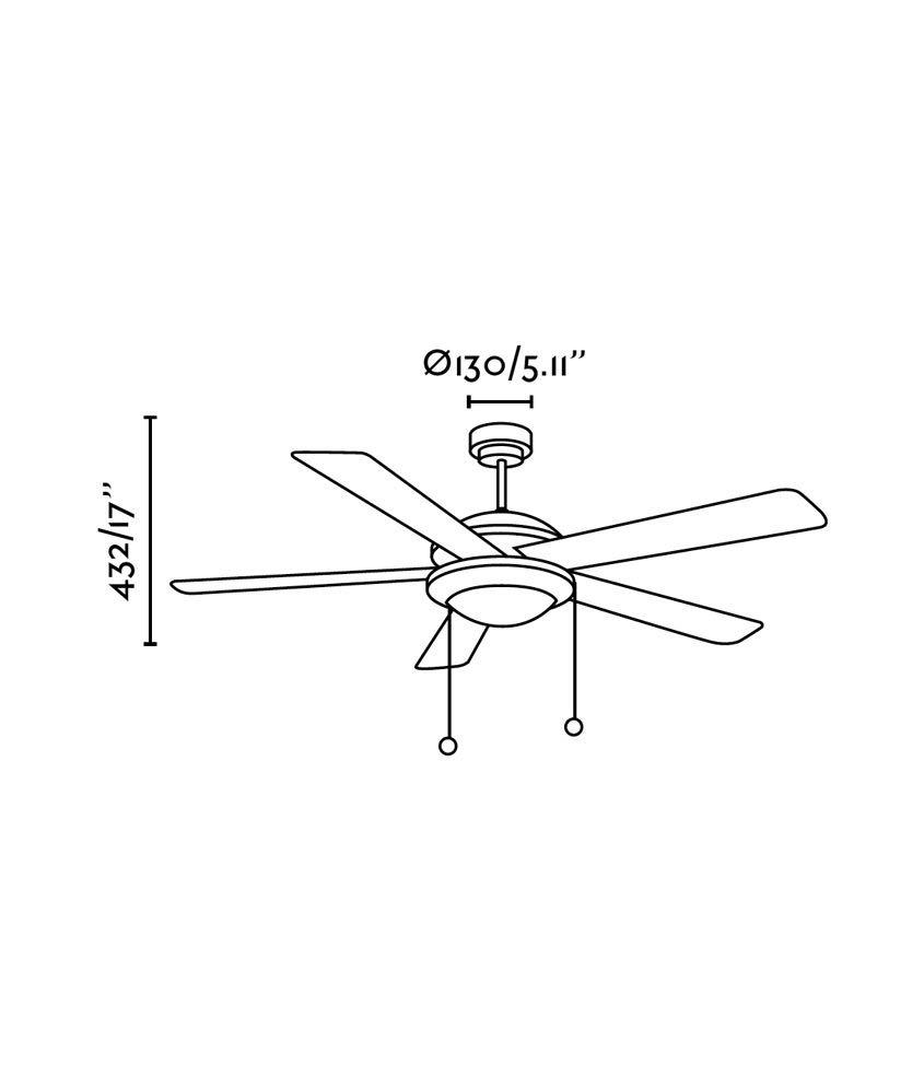Ventilador de techo marrón MANILA medidas