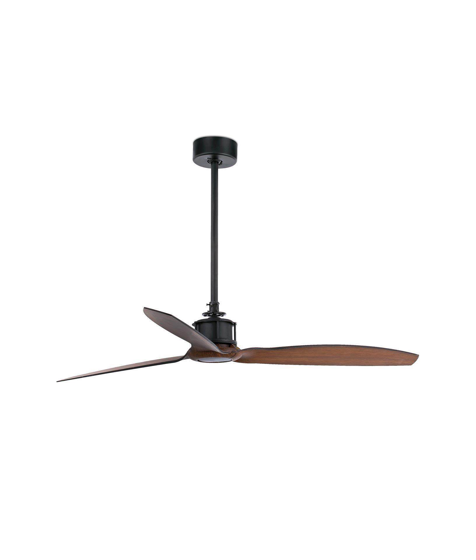Ventilador de techo negro just fan la casa de la l mpara - Lamparas de techo con ventilador ...