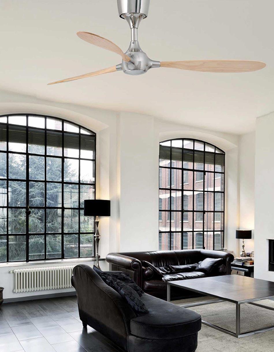 Ventilador de techo níquel ITACA ambiente