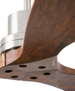 Ventilador de techo níquel LANTAU detalle