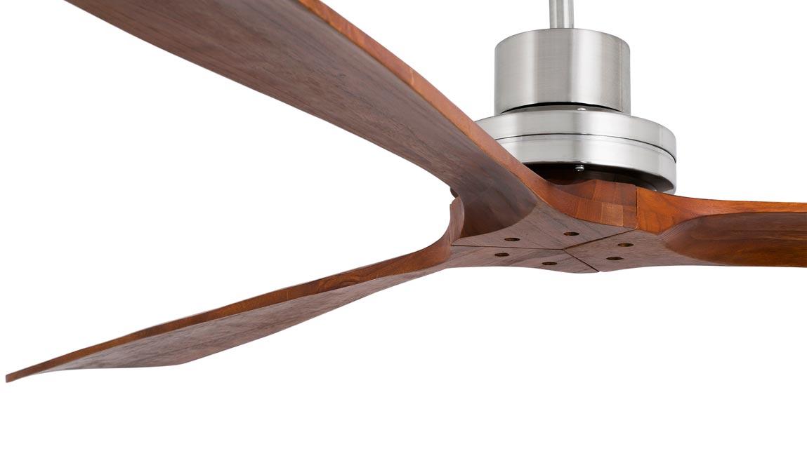 Ventilador de techo níquel LANTAU-G detalle