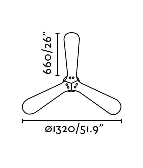 Ventilador de techo níquel LANTAU medidas 2