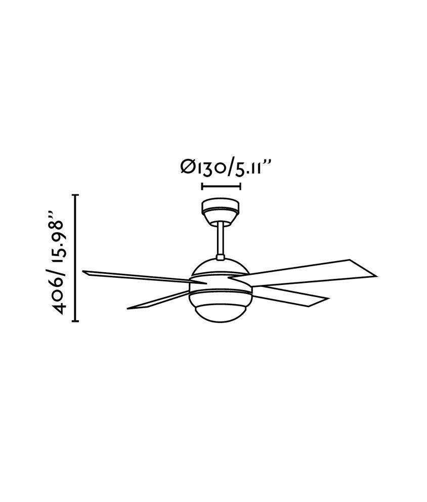 Ventilador níquel HONOLULU medidas