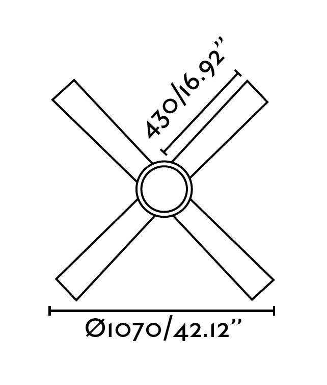 Ventilador níquel HONOLULU medidas 2