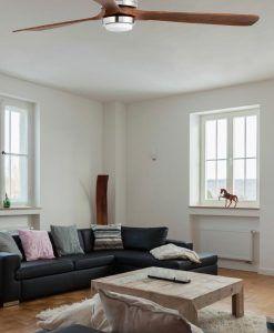 Ventilador níquel LANTAU-G LED ambiente