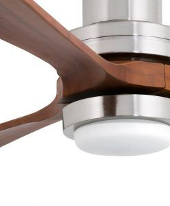 Ventilador níquel LANTAU-G LED detalle
