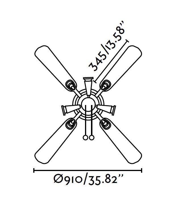 Ventilador pequeño GALÁPAGO medidas 2