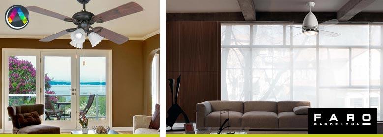 Ventiladores de techo con luz - La Casa de la Lámpara