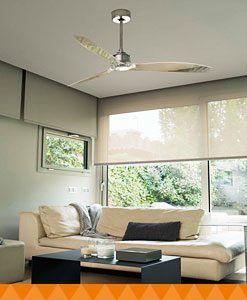 Ventiladores de techo con mando a distancia - Ventiladores de techo sin luz ...