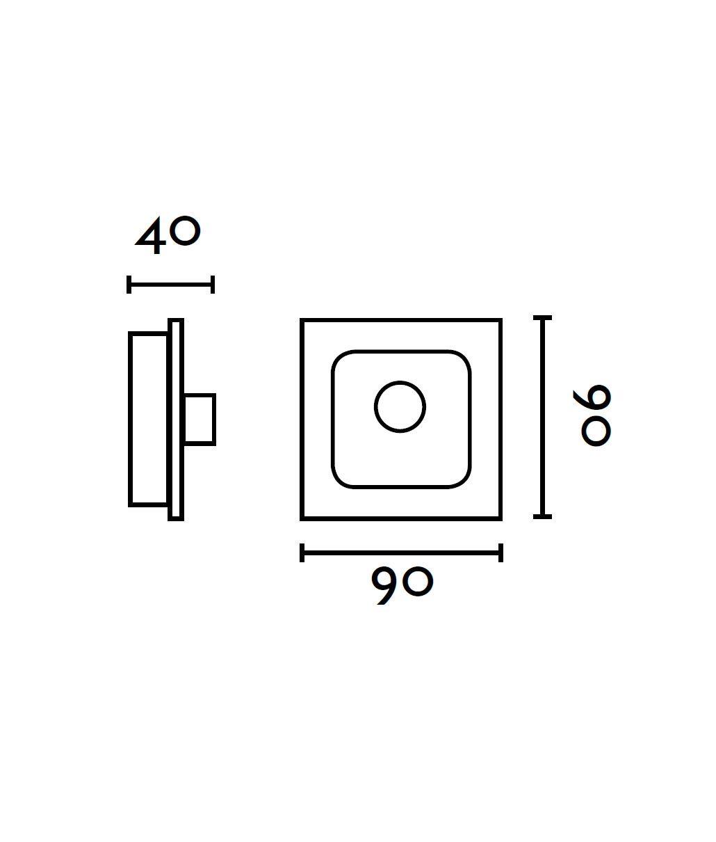 Medidas regulador de pared FARO para ventiladores
